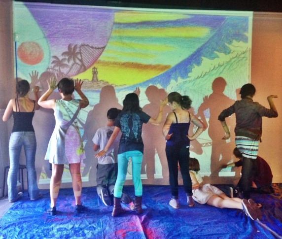 Youth Mural | Subjects to Change at the Santa Cruz Museum of Art & History, Spring 2015